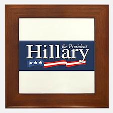 Hillary for President Poster Framed Tile