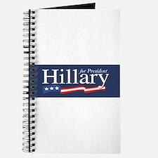 Hillary for President Poster Journal
