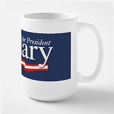 Hillary for President Poster Large Mug