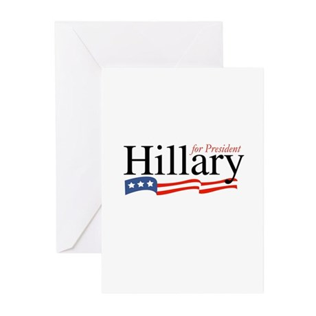 Hillary for President 2008 Greeting Cards (Package