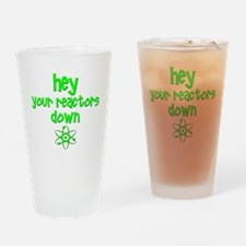 funny nuclear reactor Drinking Glass