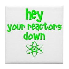 funny nuclear reactor Tile Coaster