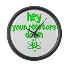 funny nuclear reactor Large Wall Clock