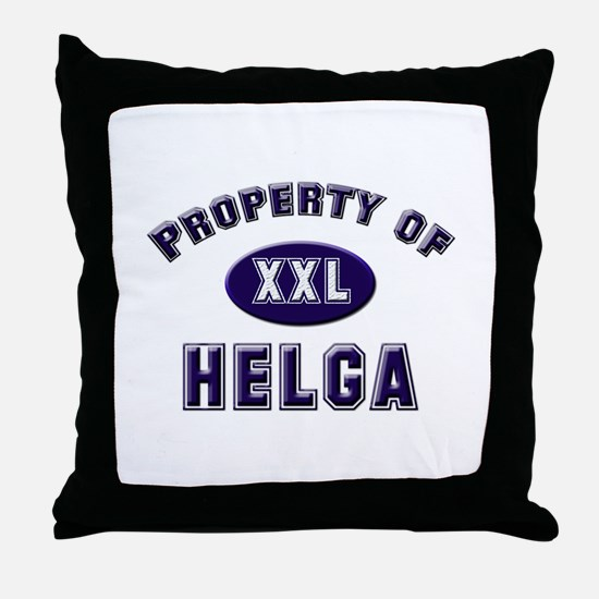 Property of helga Throw Pillow