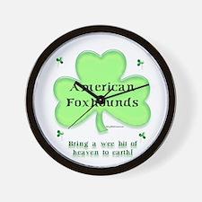 Foxhound Heaven Wall Clock