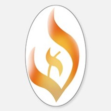 deist-flame-fire Sticker (Oval)
