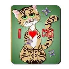 I Love Cats PosterP Mousepad