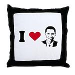 I heart Barack Obama Throw Pillow