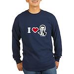 I heart Barack Obama Long Sleeve Dark T-Shirt