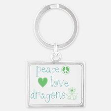 PeaceLoveDragons Landscape Keychain