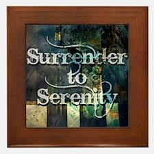 surrender2serenity Framed Tile