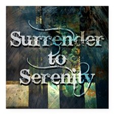 "surrender2serenity Square Car Magnet 3"" x 3"""