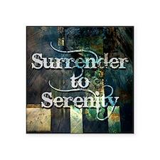 "surrender2serenity Square Sticker 3"" x 3"""