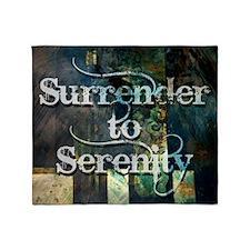 surrender2serenity Throw Blanket