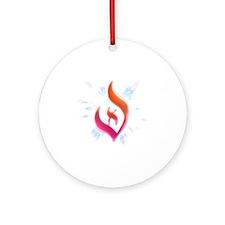 Deist Flame Starburst Round Ornament