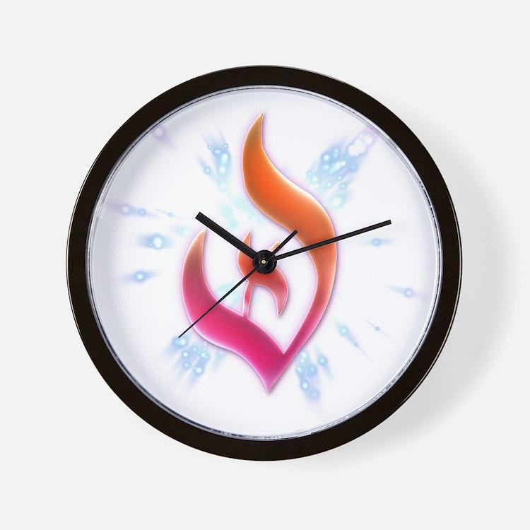 Deist Flame Starburst Wall Clock