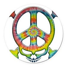skull-peace-T Round Car Magnet