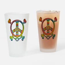 skull-peace-T Drinking Glass