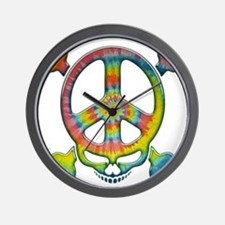 skull-peace-T Wall Clock