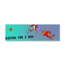 waiting for a kiss_fishes Car Magnet 10 x 3
