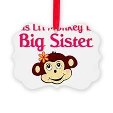 monkey big sister Picture Ornament