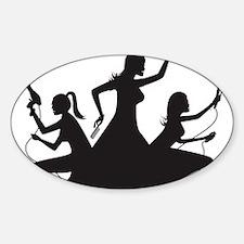 charlies shirt Sticker (Oval)