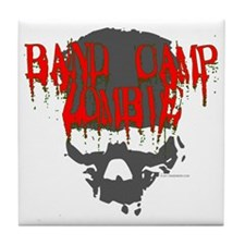 band camp zombie Tile Coaster