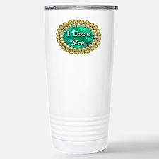 iloveyou_emeral_sapphire_ellips Travel Mug