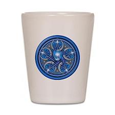Blue Crescent Moon Pentacle Shot Glass