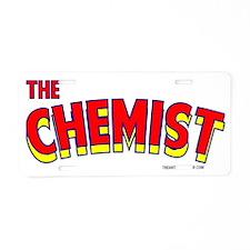The Chemist Aluminum License Plate