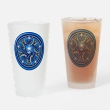 Blue Crescent Moon Pentacle Drinking Glass