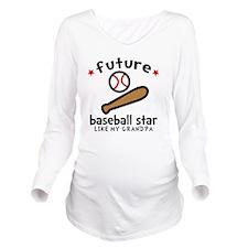 Baseball Grandpa Long Sleeve Maternity T-Shirt
