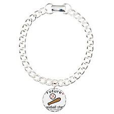 Baseball Grandpa Charm Bracelet, One Charm