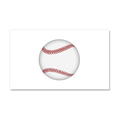 Ball-Baseball-001.png Car Magnet 20 x 12