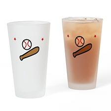 Baseball Bro -dk Drinking Glass