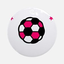 Soccer Sis -dk Round Ornament