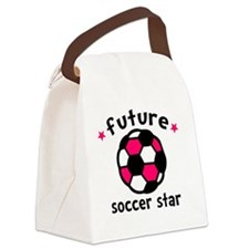 Soccer Star Canvas Lunch Bag