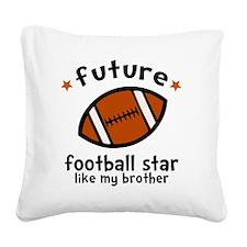 Football Bro Square Canvas Pillow
