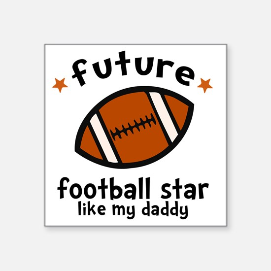 "Football Dad Square Sticker 3"" x 3"""