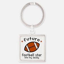 Football Dad Square Keychain
