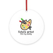 Artist Dad Round Ornament