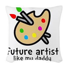 Artist Dad Woven Throw Pillow