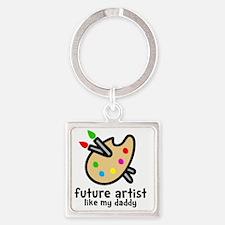 Artist Dad Square Keychain