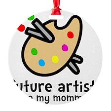 Artist Mom Round Ornament