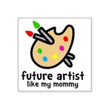 "Artist Mom Square Sticker 3"" x 3"""