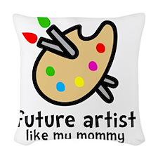 Artist Mom Woven Throw Pillow