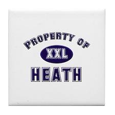 Property of heath Tile Coaster