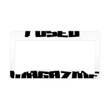 i-used-to-read-word-up-magazi License Plate Holder