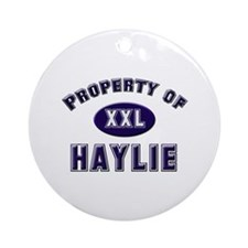 Property of haylie Ornament (Round)
