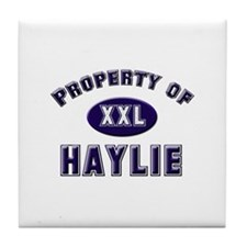 Property of haylie Tile Coaster